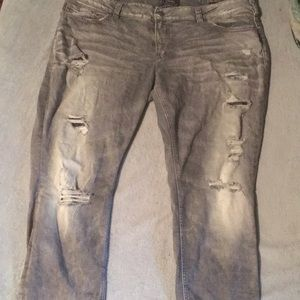 Gray Silver suki mid ankle slim jeans